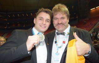 David Reingen und sein Trainer Josef Gruber