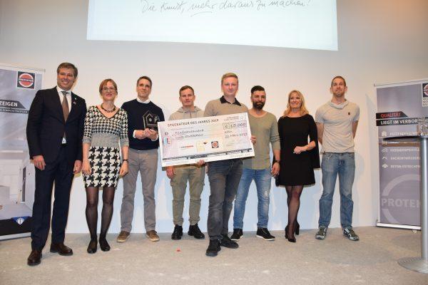 Branchenpreis Stuckateur des Jahres 2019 gewinnt die Firma LUIK STUKKATEUR